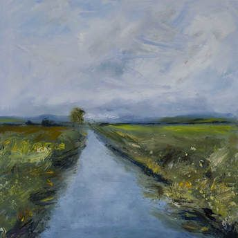 Somerset Levels   oil on canvas  £450
