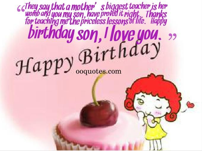 My Son Birthday Quotes http://www.happybirthdaywishesonline.com ...