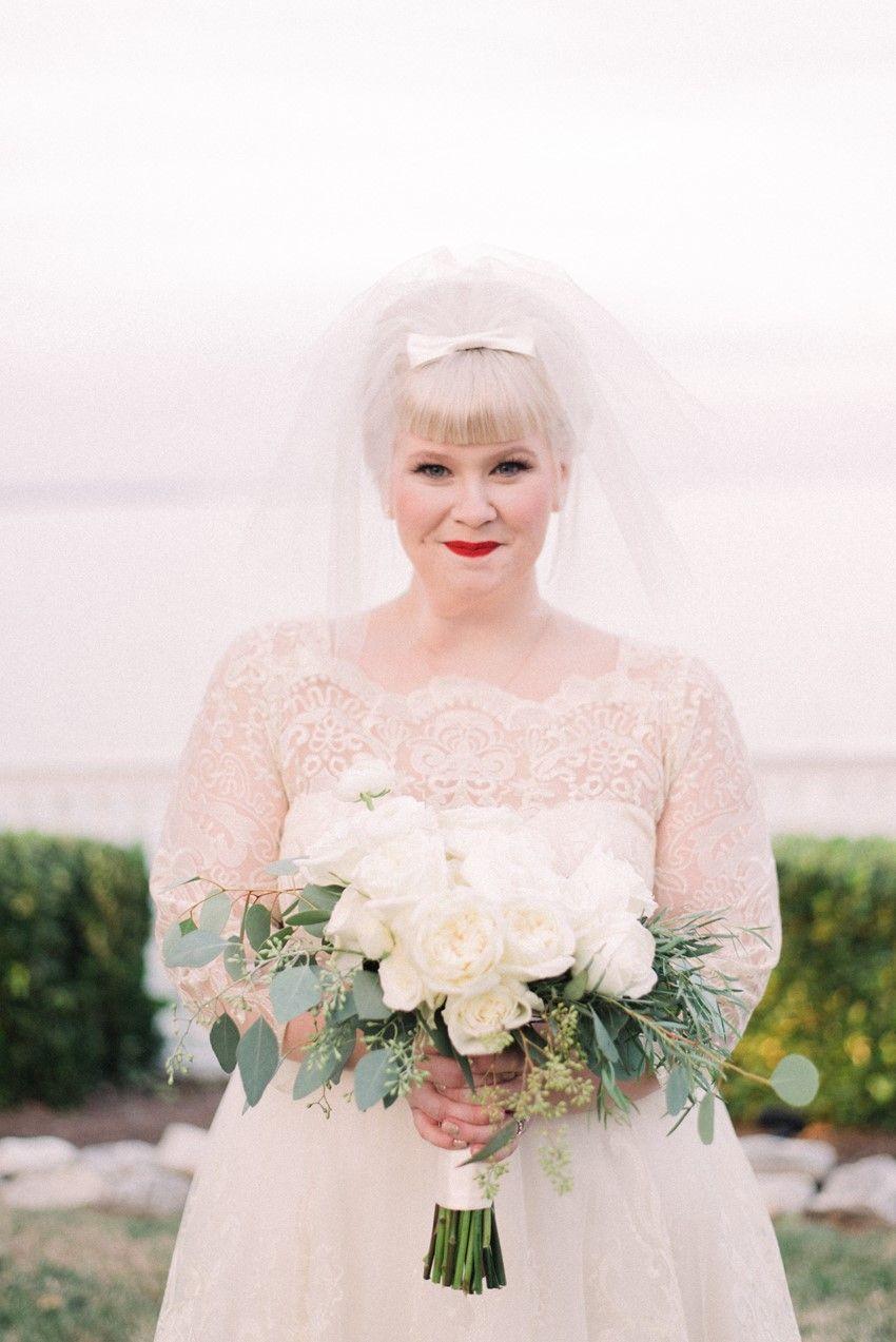 A sweet midcentury inspired maryland wedding veils pinterest