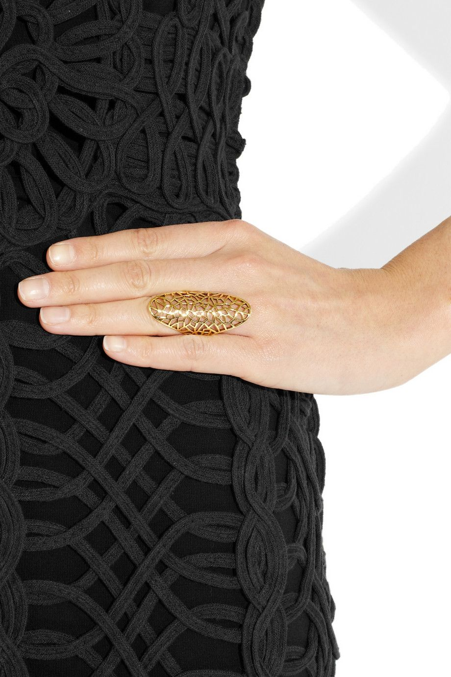 Zadig & Voltaire|By Gaia Repossi 18-karat gold-plated ring|NET-A-PORTER.COM