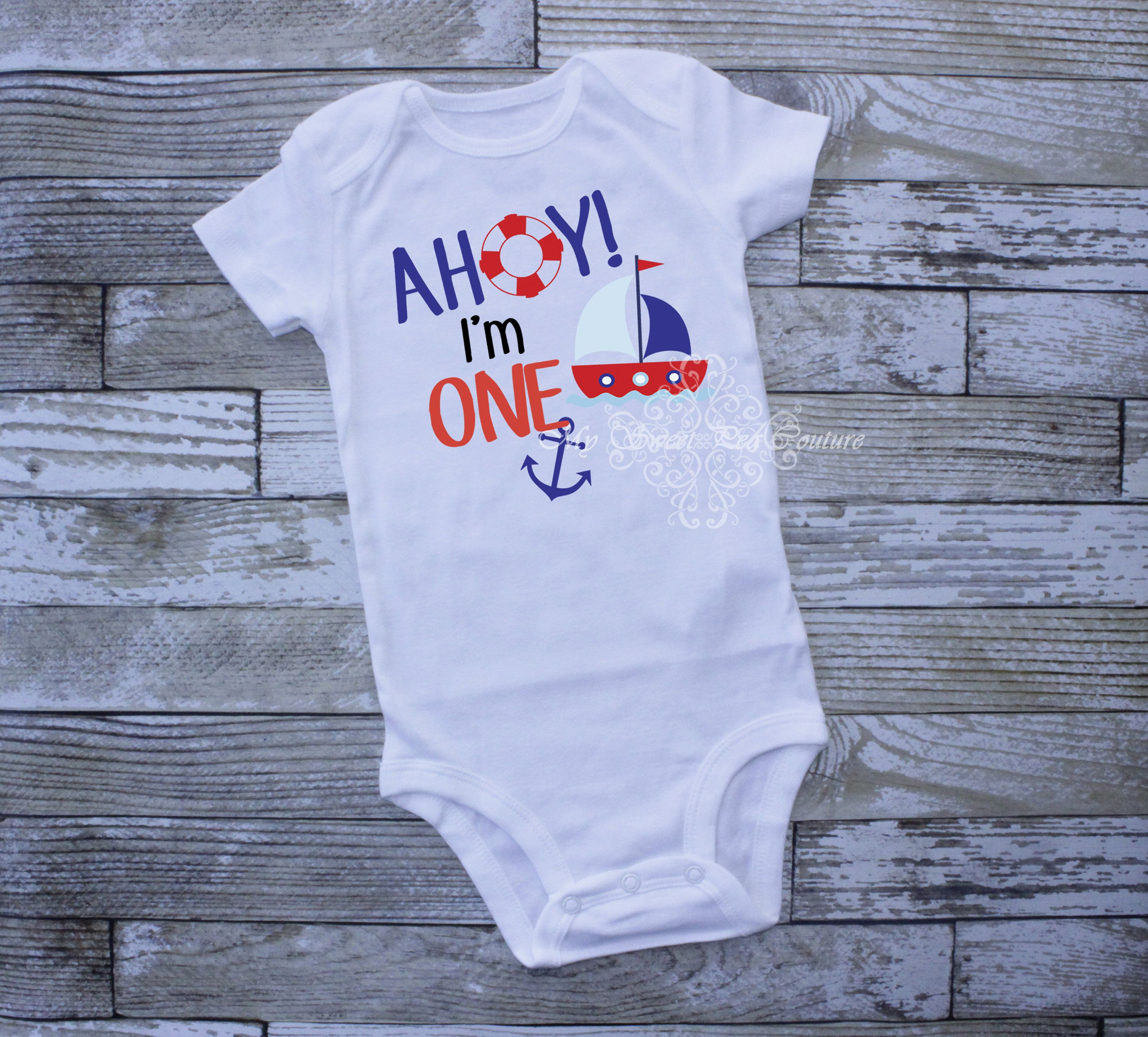 Nautical baby gift nautical baby baby boy clothes sail boat boy shirt Personalized baby outfit Baby Boy Nautical Sailboat Outfit