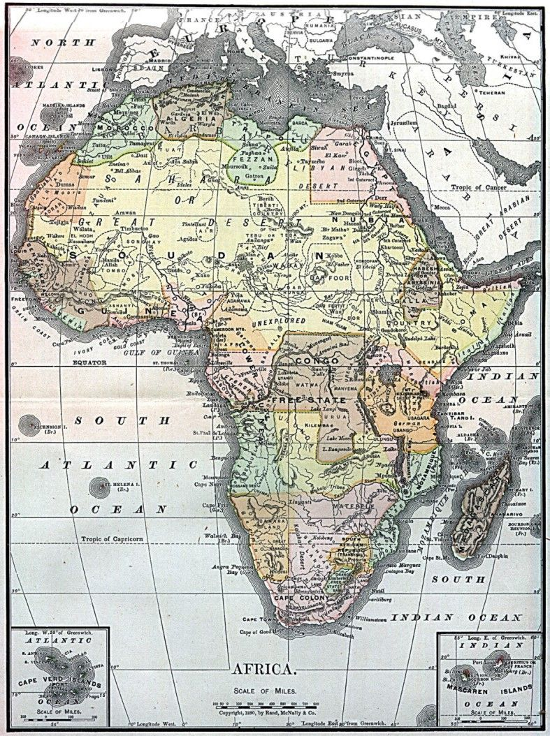 Map Of Africa 1890 Map of Africa 1890. | Africa map, African map, Old map