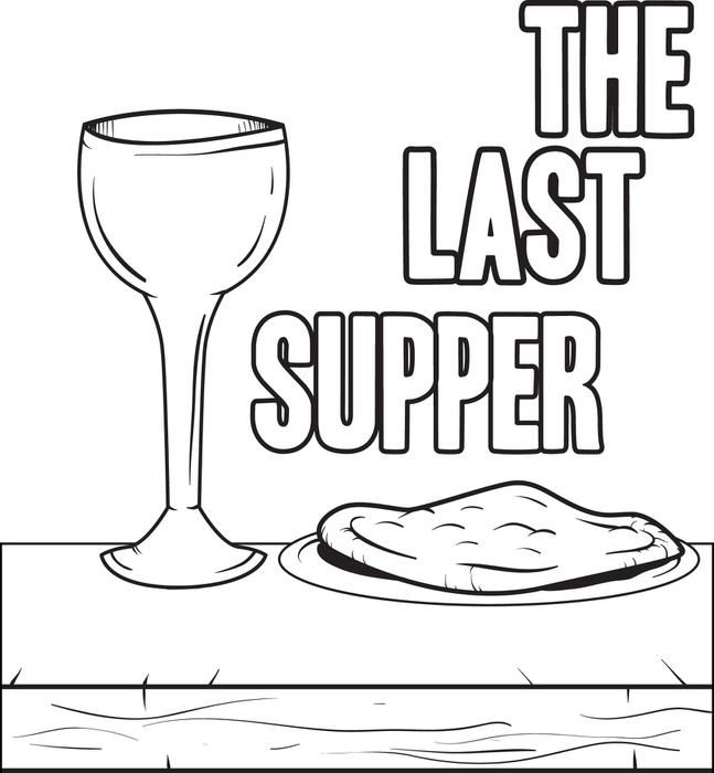 The Last Supper Coloring Page Last Supper Bible School Crafts