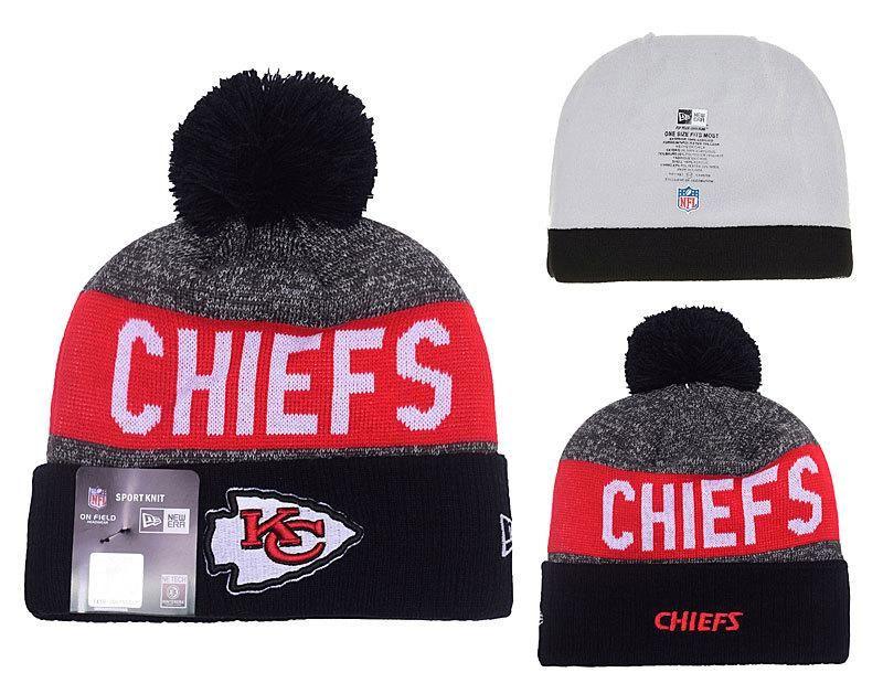 84b35236229 Pom pom beanie hat · Men s   Women s Kansas City Chiefs New Era 2016  Sideline Official Sport…