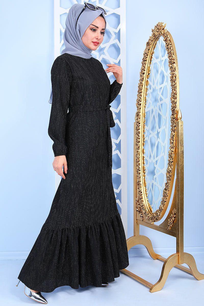 Pazarium Simli Tesettur Elbise Modelleri Moda Tesettur Giyim Elbise Modelleri Moda Stilleri Elbise