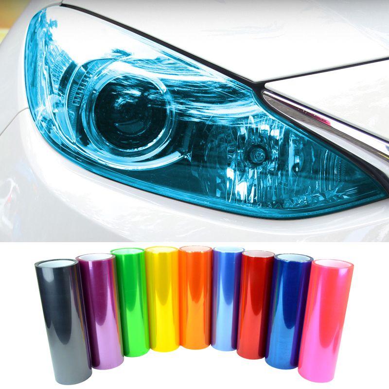 Voiture Lampe Film Autocollant Vinyle Phare Feu Arrière Transparent Multi Couleurs