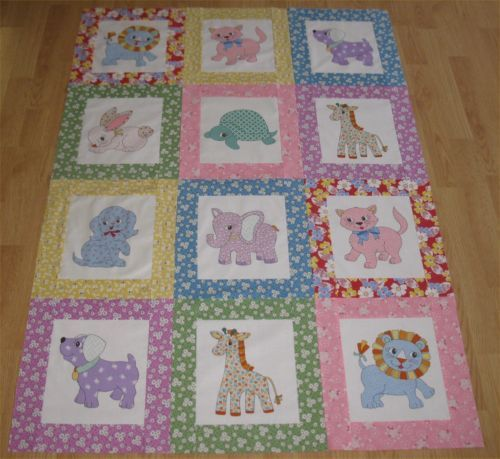 New-1930-039-s-Naptime-Baby-Quilt-Top-36-x-52-inches-Unfinished ... : quilting for babies - Adamdwight.com