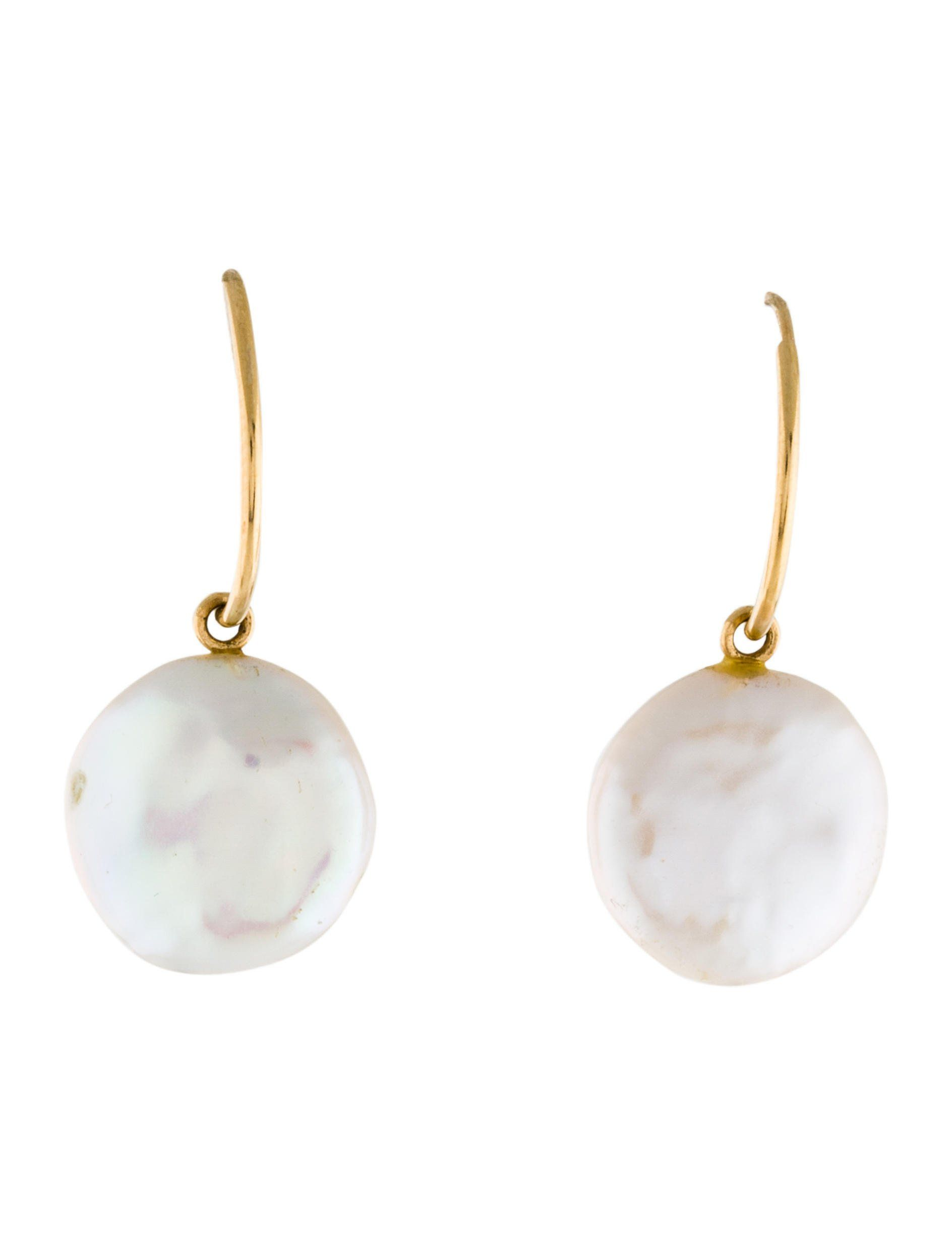 Anemone earrings 14k gold filled and freshwater pearl