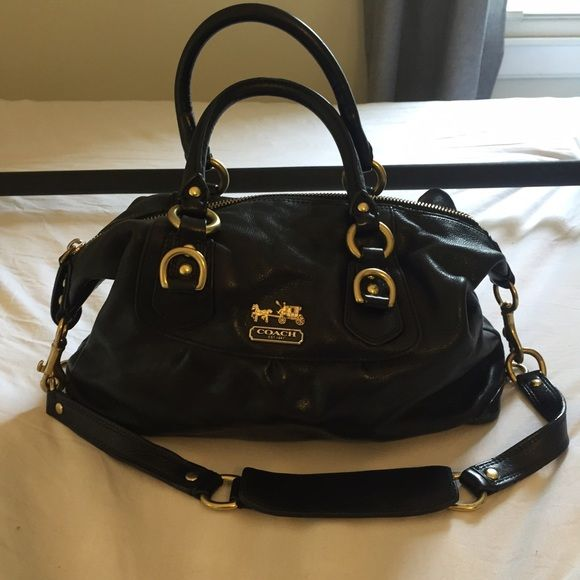 ... strap bag 5c63e 4fea5 spain coach madison sabrina convertible satchel in  excellent condition with minimal signs of wear. comes ... 32b751c699480
