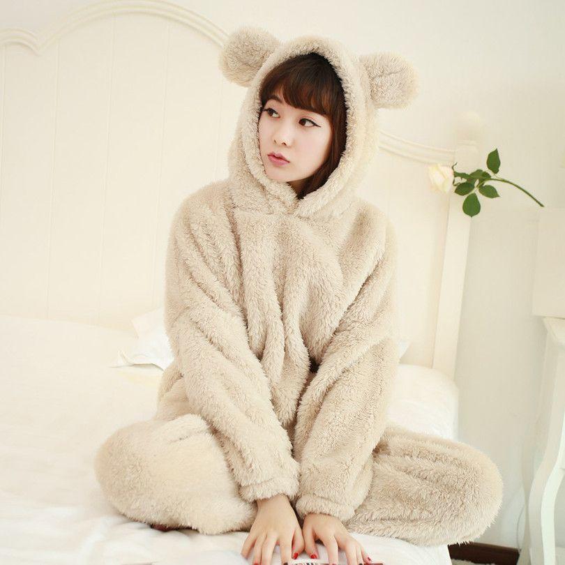 XXL Flannel Pyjama Women Winter Women Pajama Sets Pajamas Animal Pijama  Feminino Pijama Mujer Pijamas Enteros Pyjamas e3480bf18