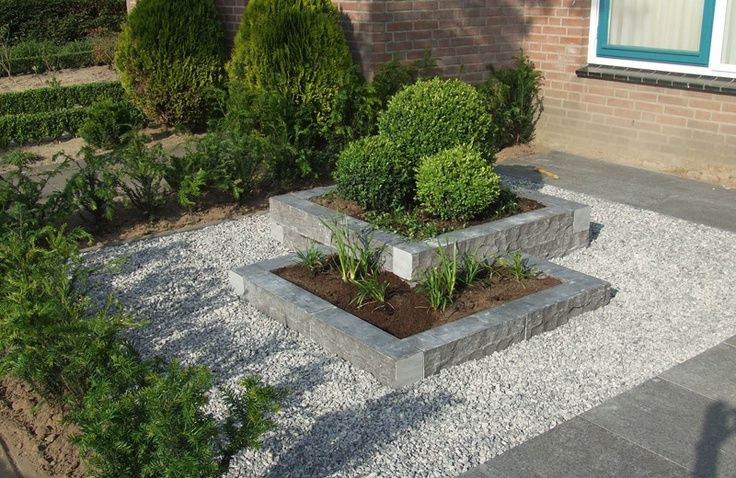 Tuin met grind voorbeelden for Kleine voortuin aanleggen