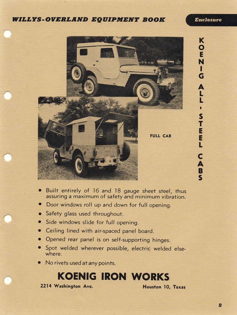 1948 Equipbook Koenig Hardtops2 Willys Jeep Willys Jeep