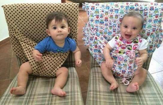 Practica idea para las mamis que no tienen sillita para bebe