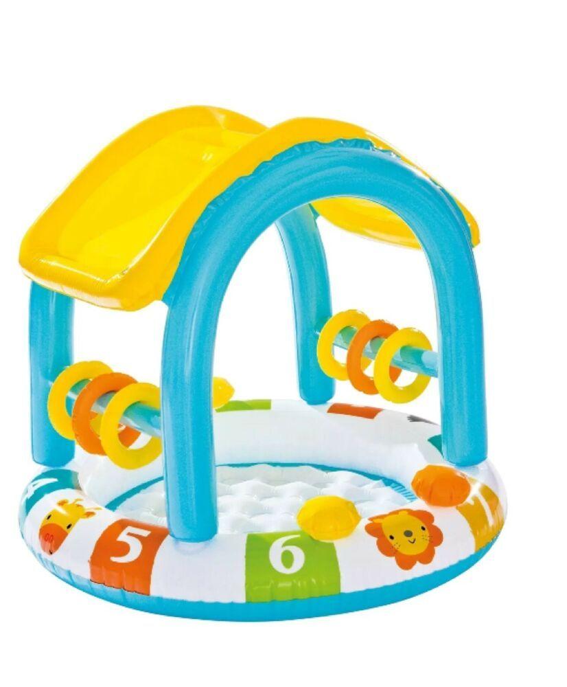 Intex Inflatable Sun Shaded Baby Pool New 78257323104 Ebay Baby Pool Inflatable Baby Pool Inflatable Pool