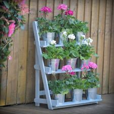 Garden Flower Stand Staircase Step Plants Pot Shelf Ladder Shelving Display Tier