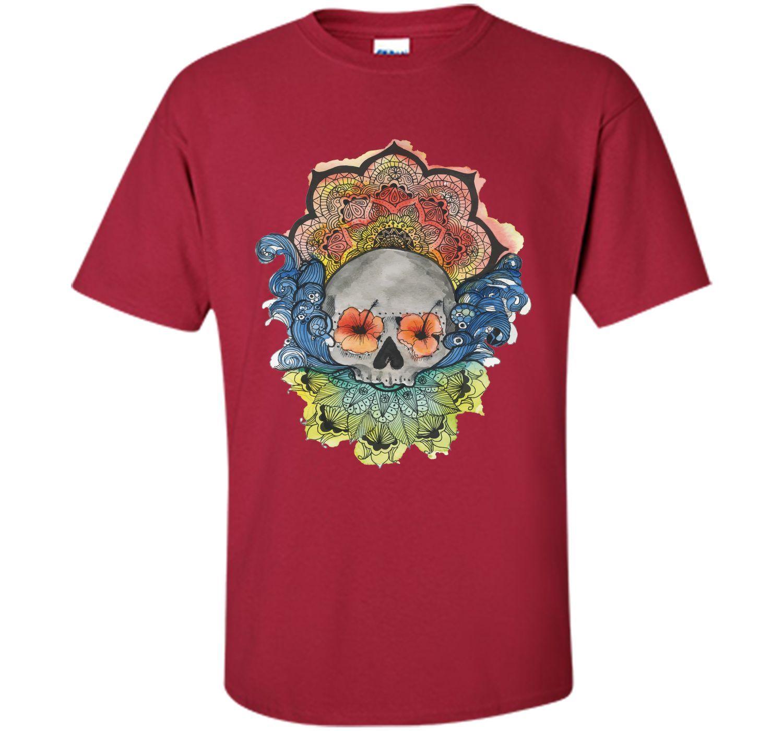 Adorable Mandala Sugar Skull Tattoo 2017 T Shirt
