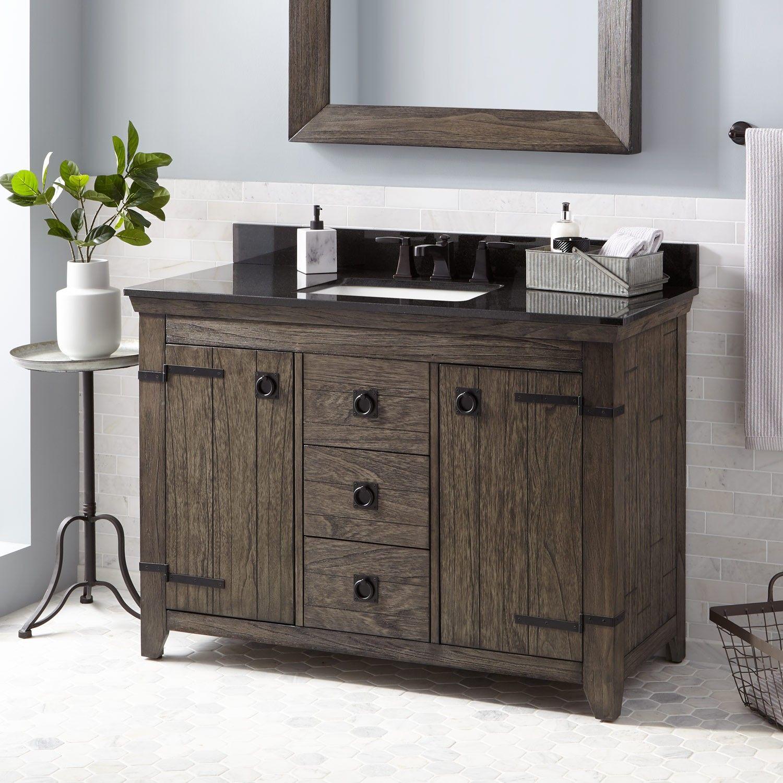 48 kane vanity for rectangular undermount sink rustic brown