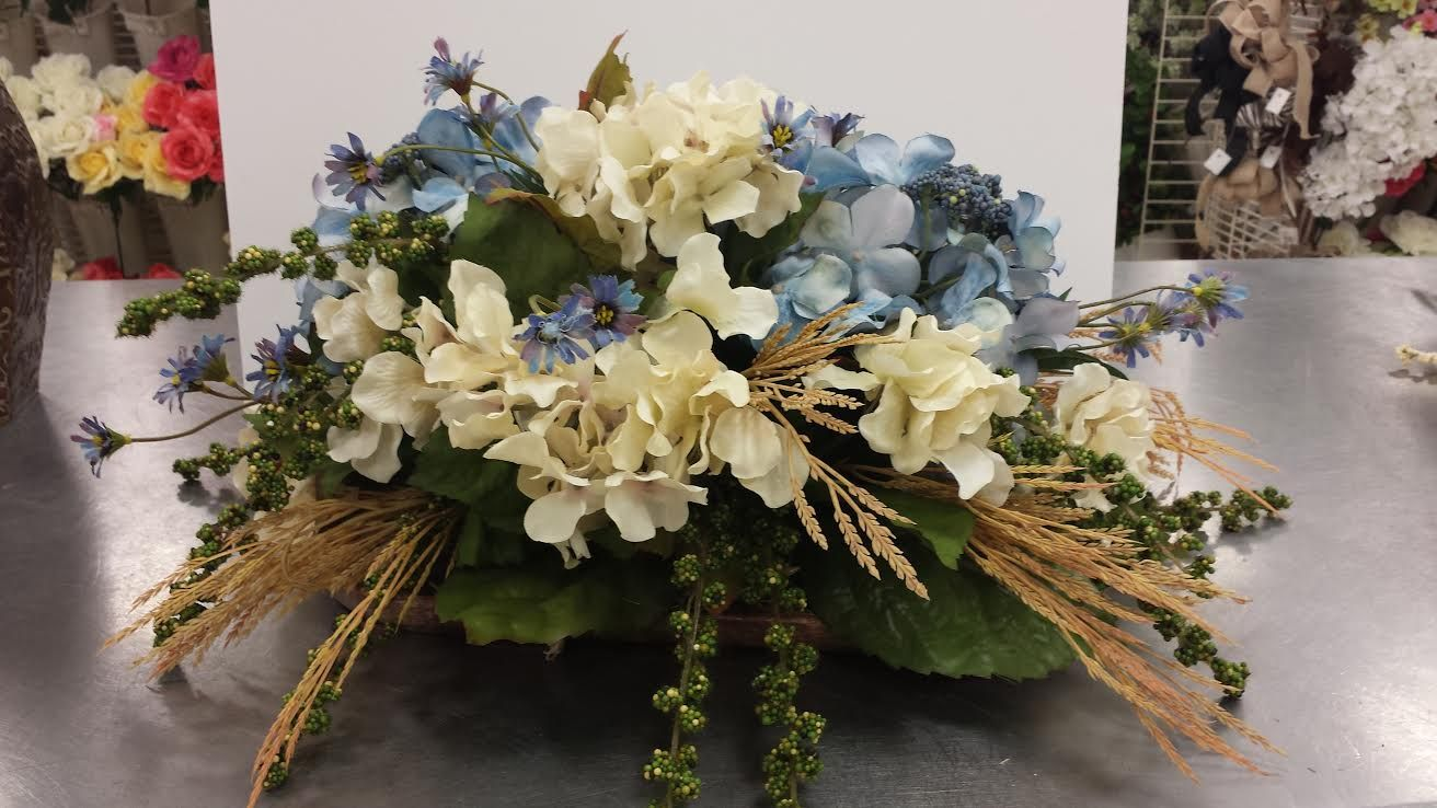 Wedgewood Blue Hydrangeas Coffee Table Michaels Plymouth Meeting Silk Flower Arrangements Floral Arrangements Fall Floral