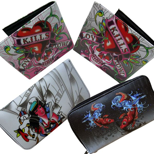 New cool tattoo designs wallets at: www.punkabillyclothing.com