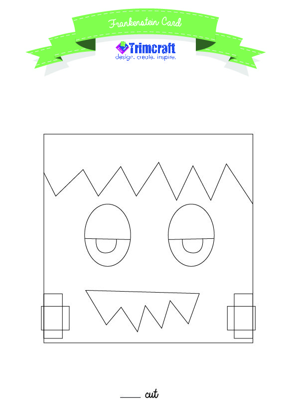 Frankenstein Halloween Card Free Template Make these fun - monster template