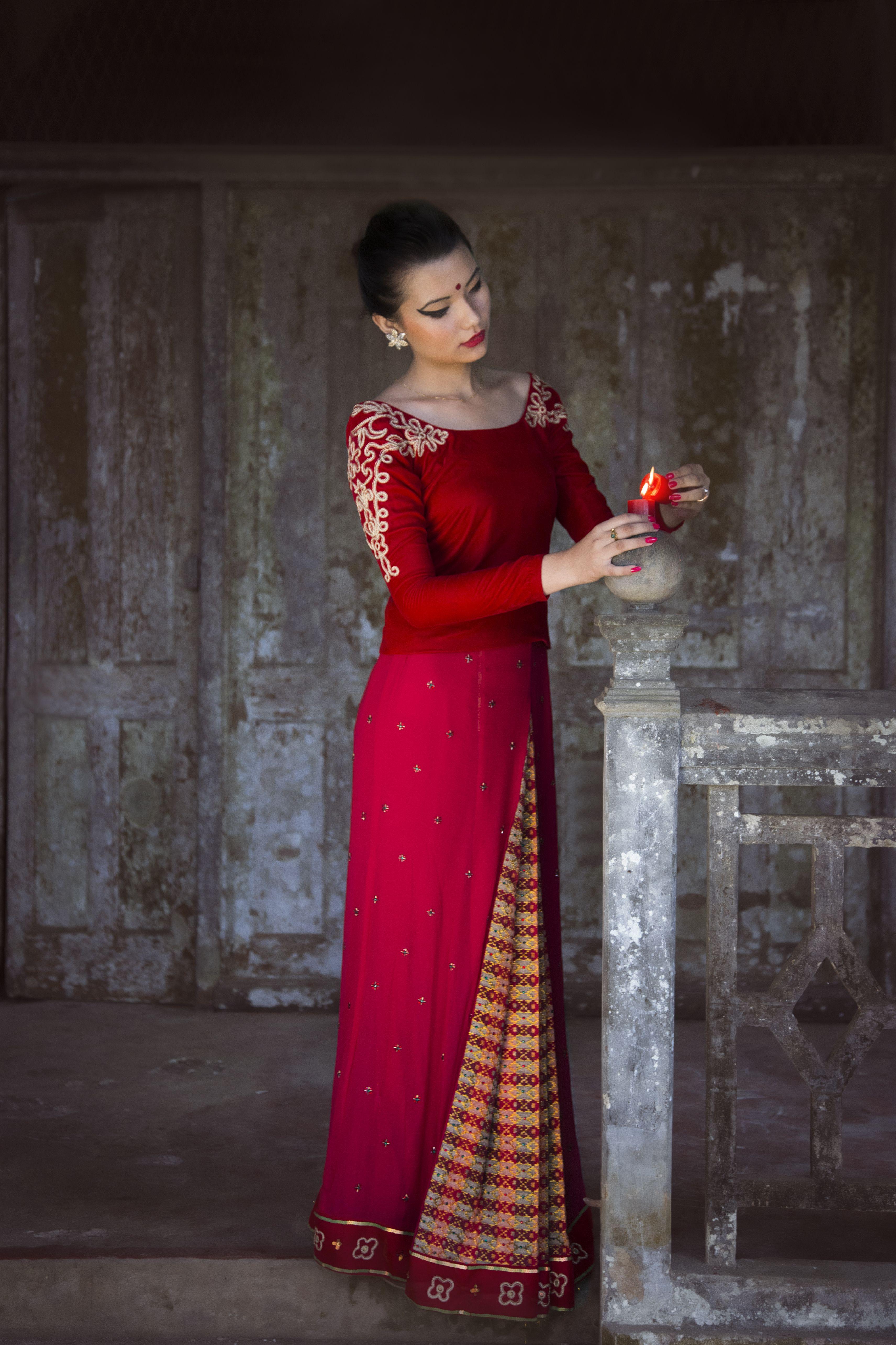 Nepali Bridal Wear-Brides story with the Dhaka Chiffon ...