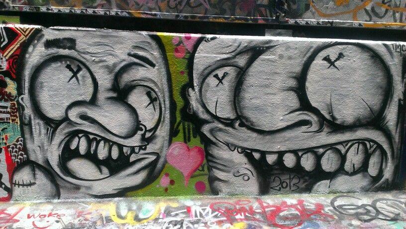 Melbourne City Laneway Graffiti Street graffiti
