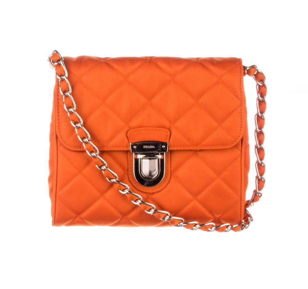 553a79a9b383 PRADA Orange Nylon Quilted Crossbody Bag #fashion #clothing #shoes  #accessories #womensbagshandbags