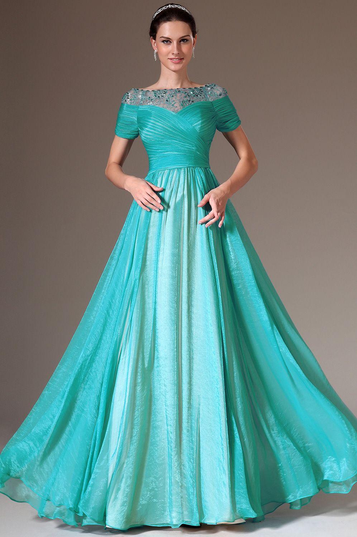 A Line Prom Dresses Short Lace Top