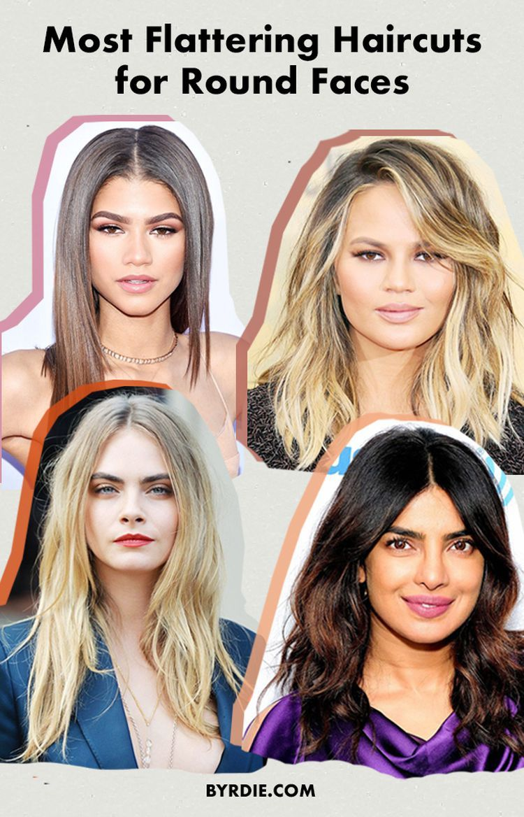 3 Of The Most Flattering Haircuts For Round Faces Round Face Haircuts Hairstyles For Round Faces Round Face Haircuts Long
