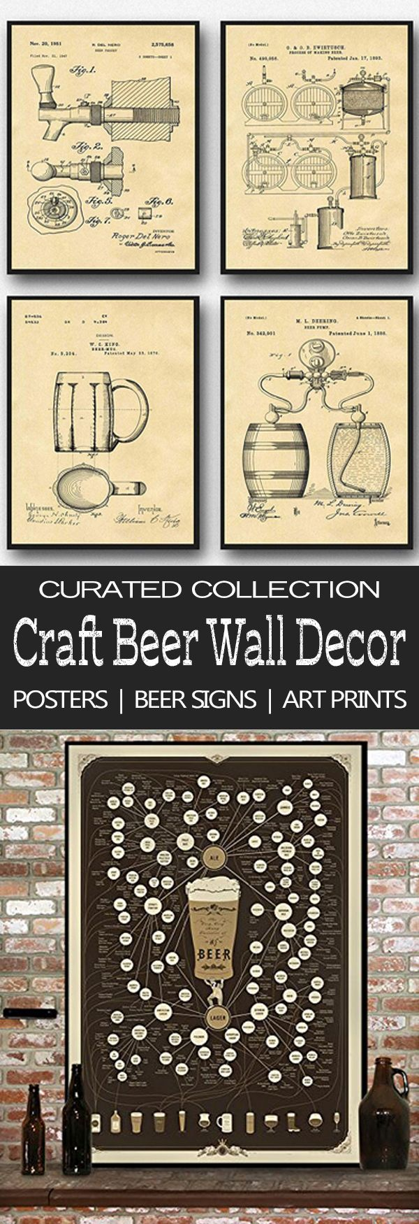 Beer art prints and beer posters collection Craft beer themed wall decor makes the perfect gift for beer lovers