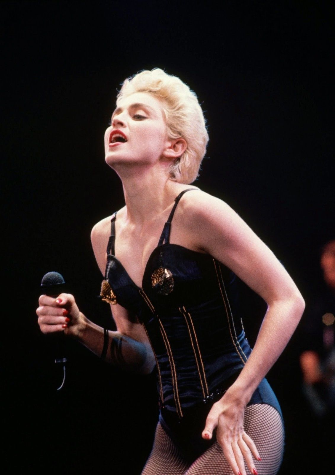 CANVAS Madonna Singing in Concert Art print POSTER