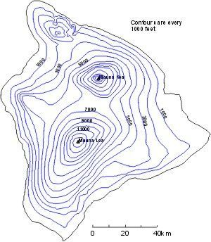 Resultado de imagem para hawaii volcano topographic map | Geography ...