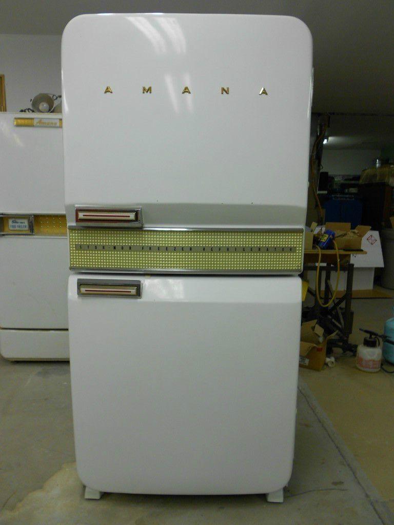 Vintage 1956 Amana Store More Refrigertor Freezer New Showroom Model Ebay Vintage Fridge Vintage Refrigerator Vintage Stoves