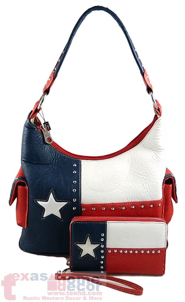 Montana West Western Handbag Wallet Set Texas Flag Shoulder Bag Lone Star New Montanawest Shoulderbagwalletset