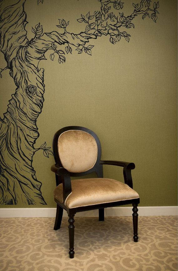 Life like Tree vinyl wall mural peel and stick by ParkLaneCouture