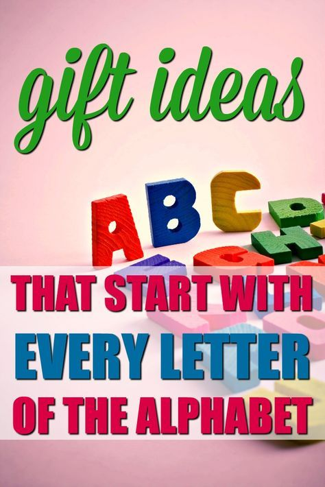 The Ultimate List Of Gifts That Start With The Letter Alphabet Grab Bag Gift Exchange Ideas Unique Gifter Christmas Gift Exchange Themes Alphabet Gifts Christmas Gift Themes