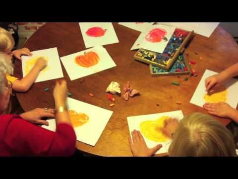 How to Draw a Pumpkin (in less than a minute!) - Chalk Pastel Art Tutorial