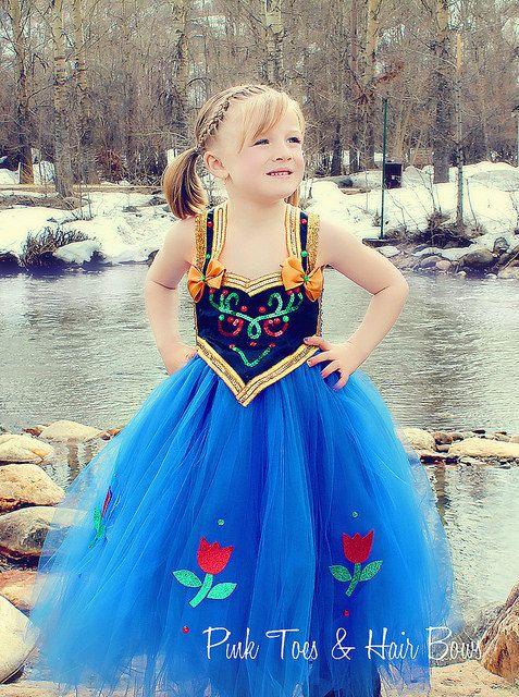 Anna Tutu Dress Frozen Tulle By GlitterMeBaby 8999