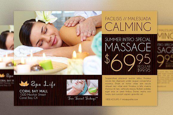 Spa Massage Flyer Template Massage Marketing Massage Spa Massage