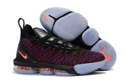 9cb9527c0c26e Nike LeBron 16 Black Multicolor-Orange Basketball Sneakers To Buy in ...