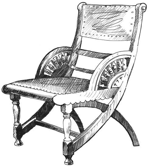 Furniture: Armchair. Henry Hobson Richardson. Romanesque
