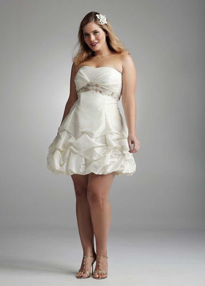 Plus Size Beach Wedding Dresses White Gowns