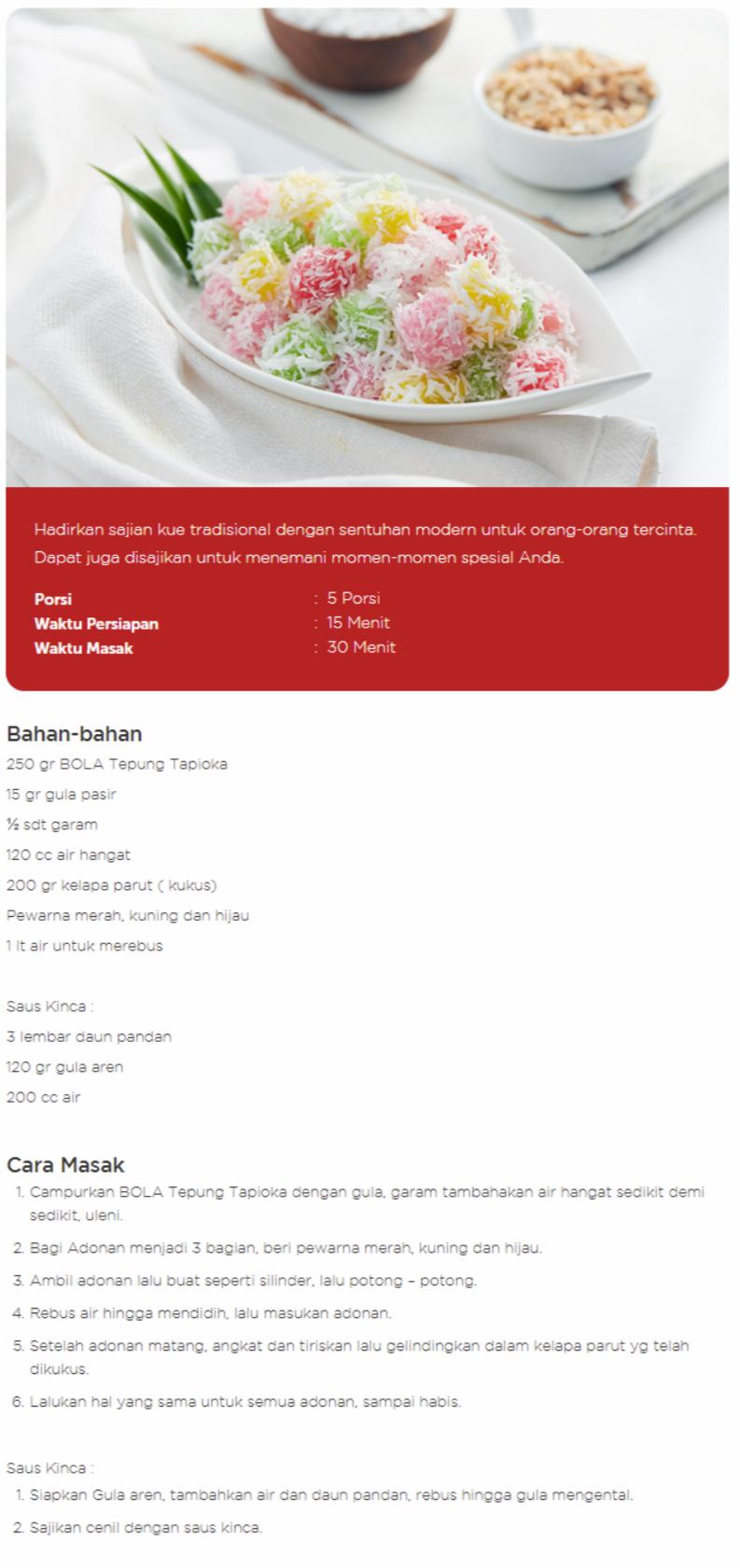 Resep Cara Membuat Kue Cenil Enak Sederhana Resep Resep Makanan Resep Makanan