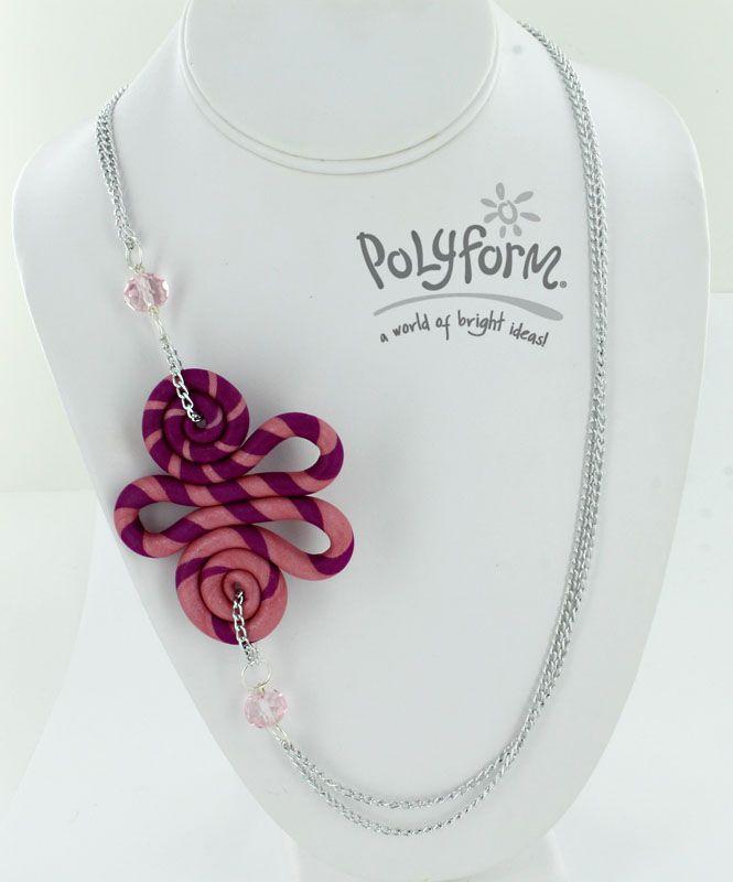 Sculpey III Stripes and Swirls Necklace Tutorial