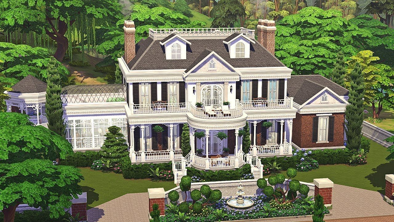 Colonial Estate The Sims 4 Family Home Speed Build Part 1