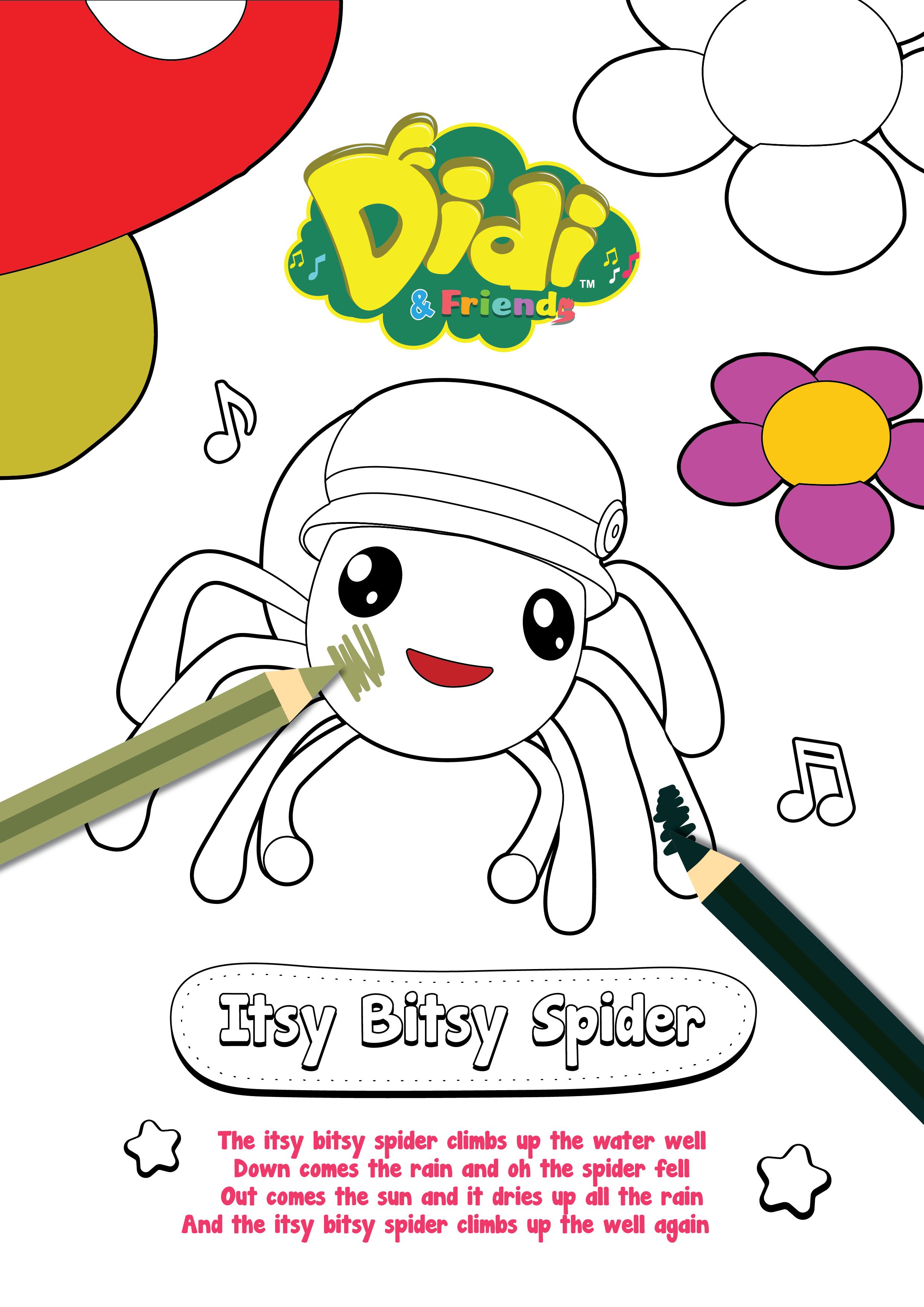 Free Colouring Sheet Didi Friends Free Coloring Sheets Craft Free Coloring Sheets For Kids