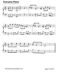 Super Mario Bros  theme-Ground Theme Stave Preview 5 | music sheet