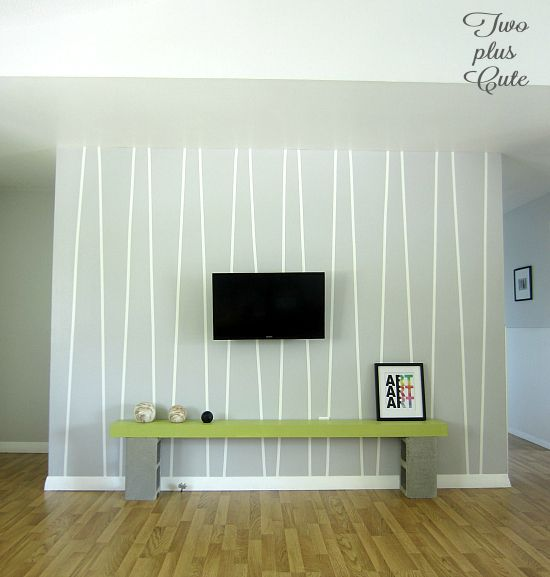 Correctly Paint Accent Wall: 15 Minute Accent Wall (with Electrical Tape!)