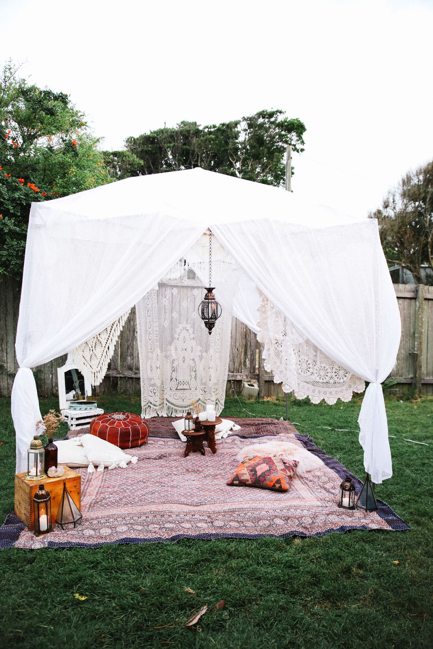 pop up tent decorating ideas