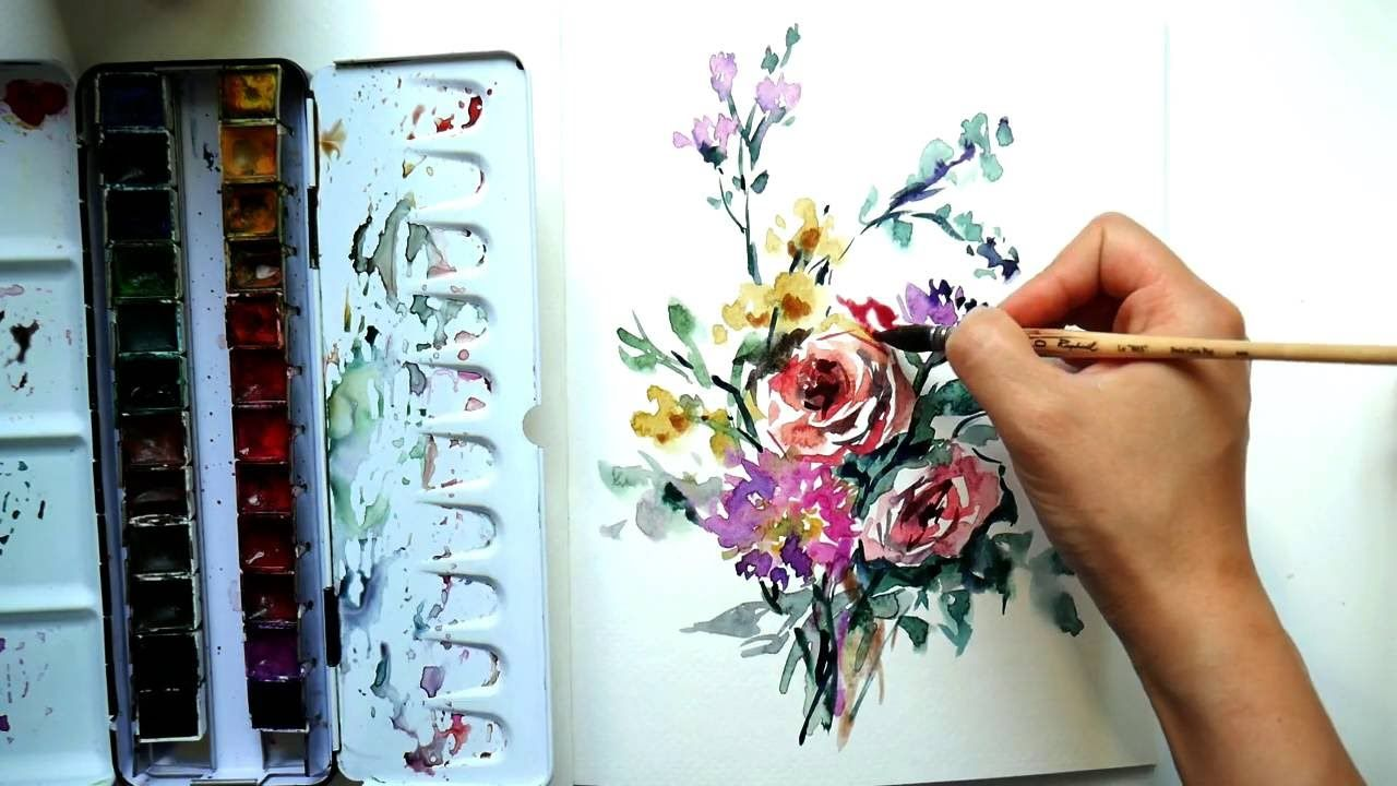 Let's paint watercolors loose and intuitively